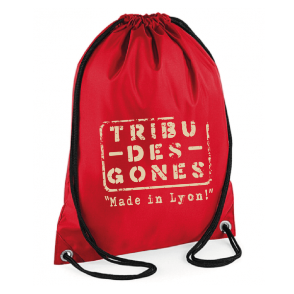 """Sac sport """"Made in Lyon """" couleur rouge"""