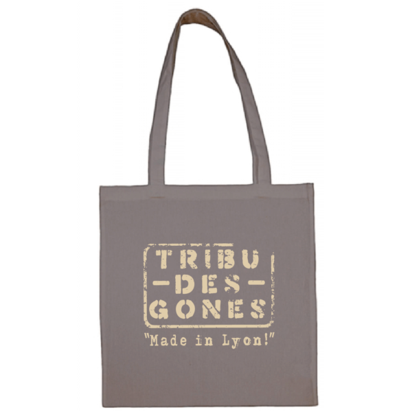 """Tote bag """"Made in Lyon """" couleur gris"""
