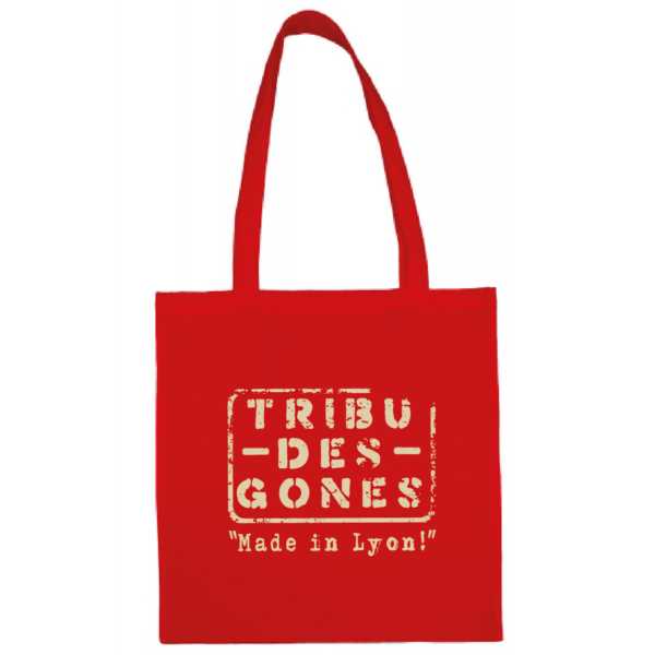 """Tote bag """"Made in Lyon """" couleur rouge"""