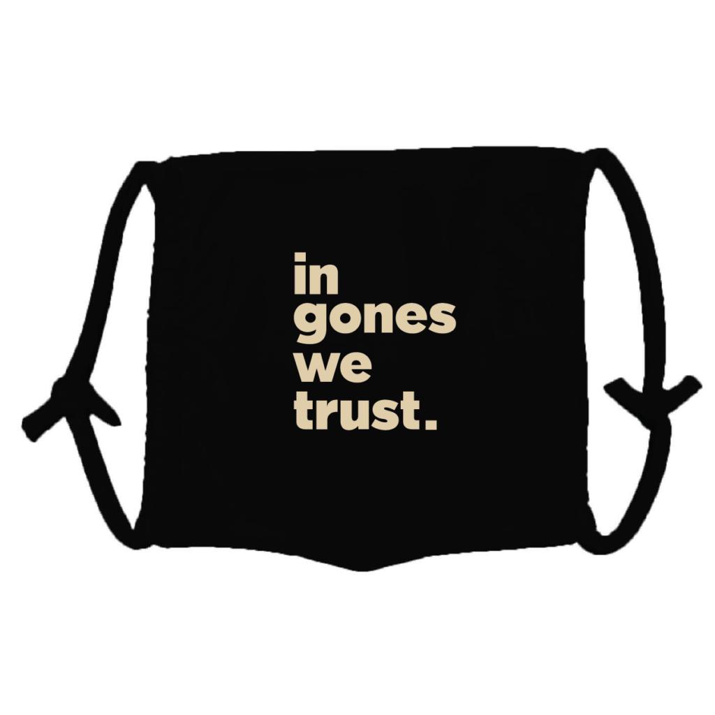 Masque en tissu lavable in gones we trust noir