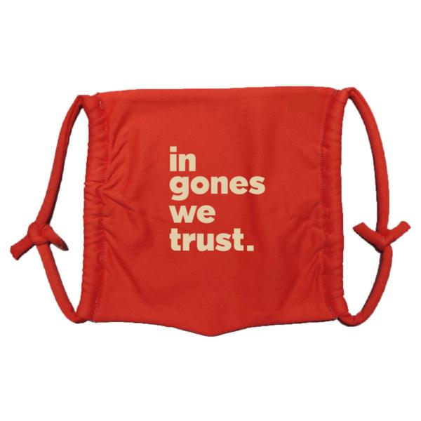 Masque en tissu lavable in gones we trust rouge