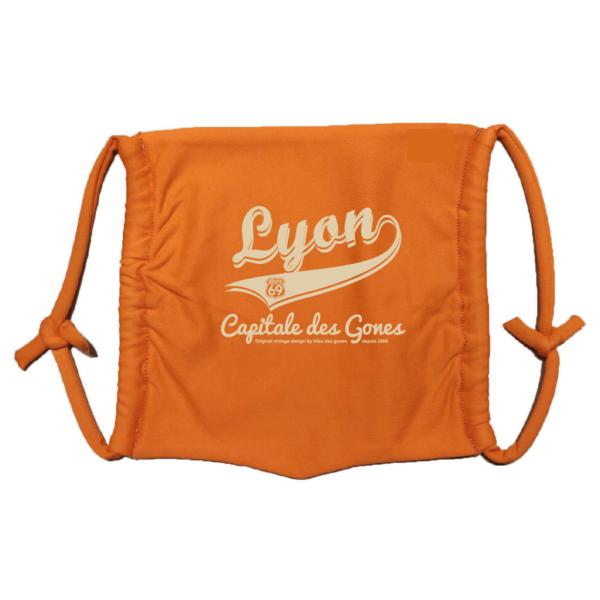Masque en tissu lavable lyon capitale des gones orange