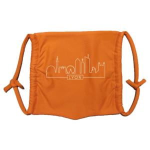 Masque en tissu lavable skyline orange