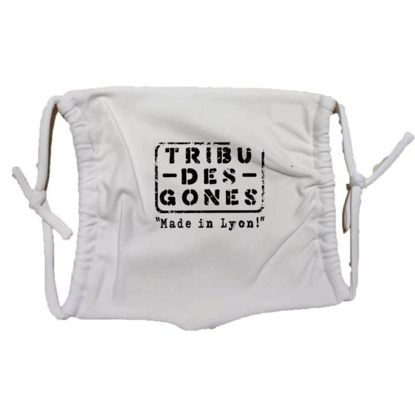 Masque en tissu lavable tribu des gones blanc