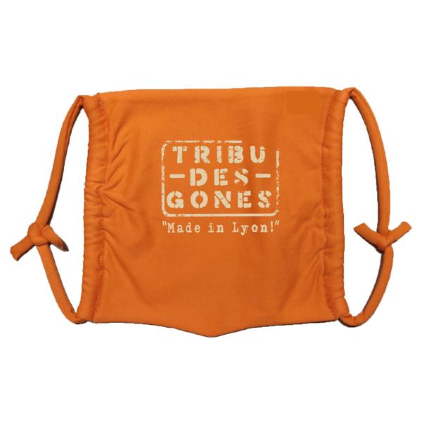 Masque en tissu lavable tribu des gones orange