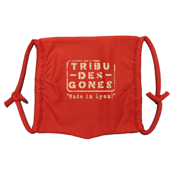 Masque en tissu lavable tribu des gones rouge