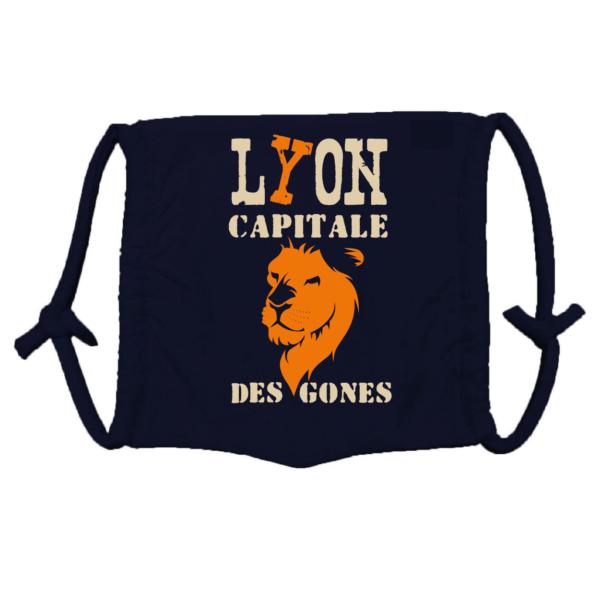 Masque enfant et adulte Tribu des Gones motif Lyon capitale des Gones