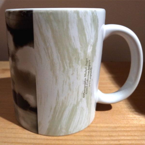 Illustration du mug Arbre collaboration Argaya, vue gauche