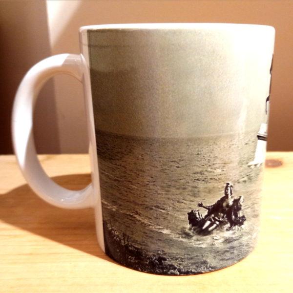 Illustration du mug Bellecour collaboration Argaya, vue droite