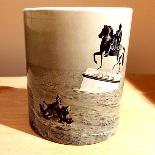 Illustration du mug Bellecour collaboration Argaya, vue face