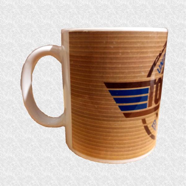Mug illustré par la Tribu des Gones, Titré Top Gone, vue droite